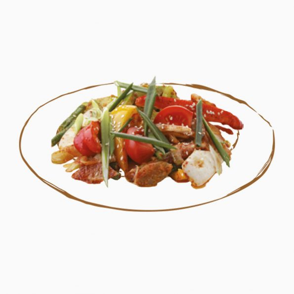 Говяжья вырезка с овощами в Чайхане Fusion