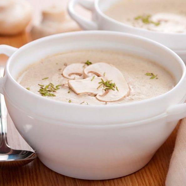 Крем суп из белых грибов в Чайхане Fusion