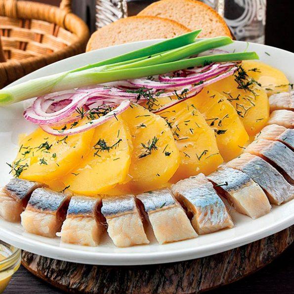 Селедка с картофелем в Чайхане Fusion